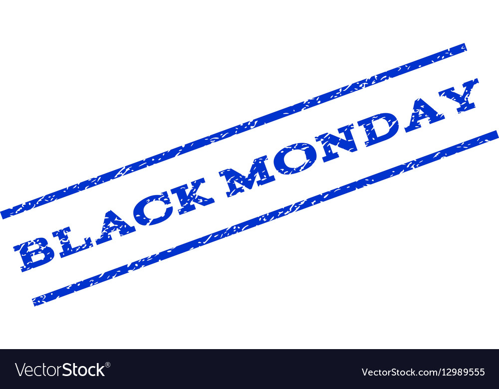 Black Monday Watermark Stamp