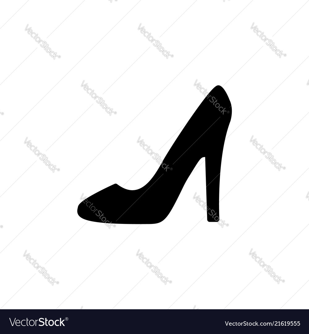 Heel shoes , icon black on white background