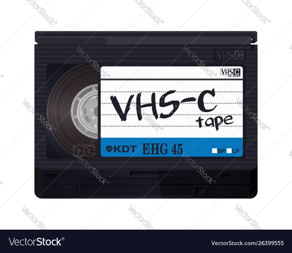 Isolated Vintage Vhs C Tape Royalty Free Vector Image