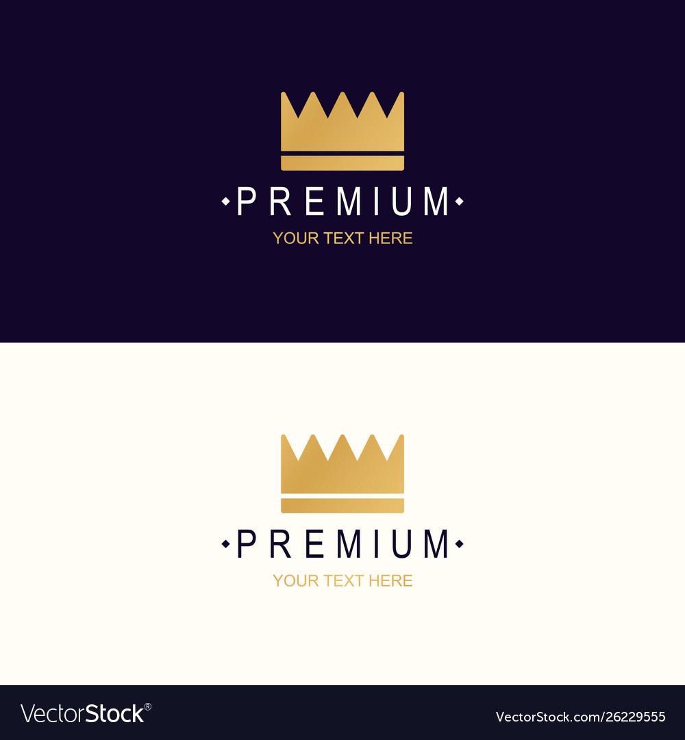 Premium crown logotype
