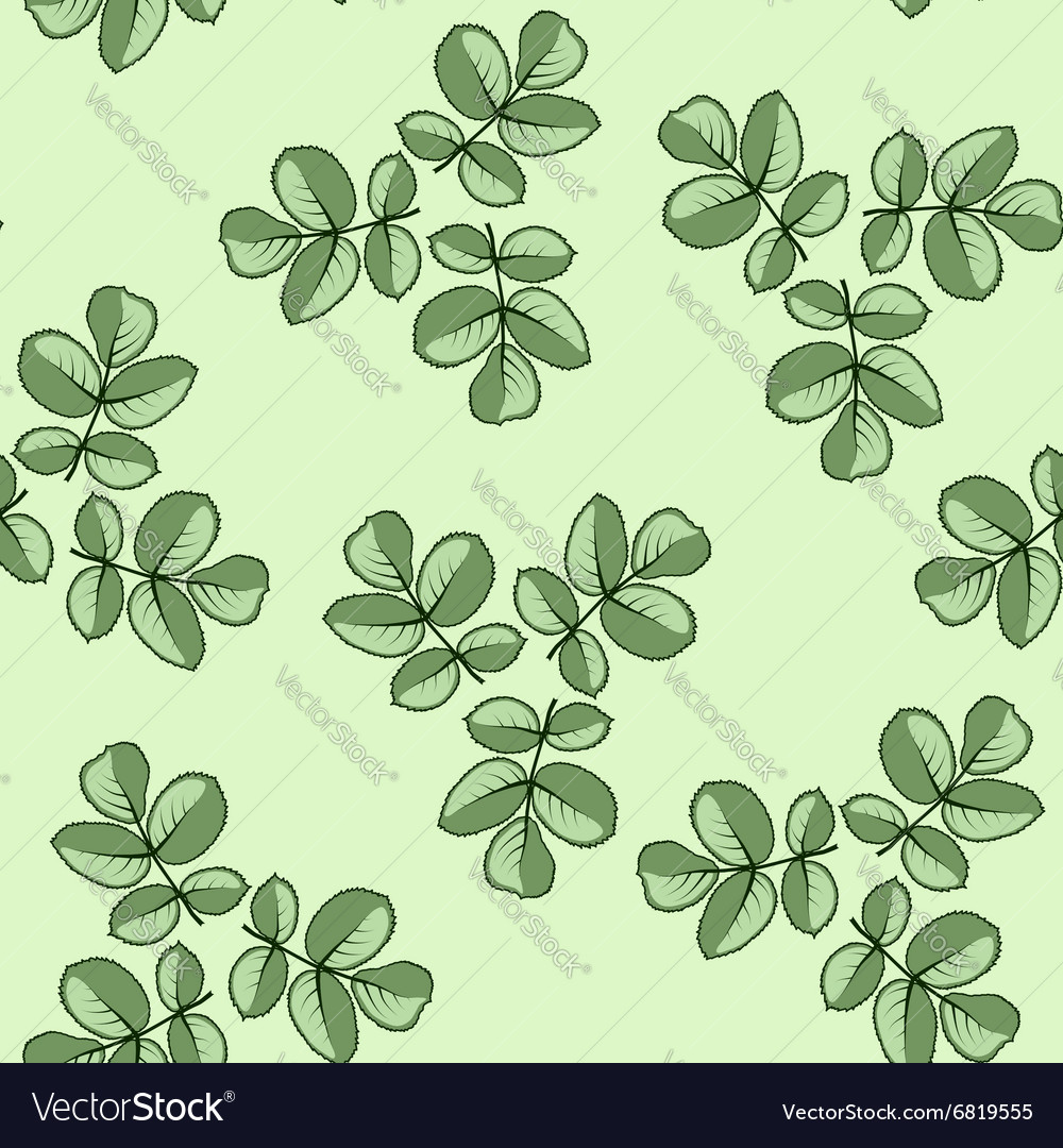 Seamless pattern made from rose leaves