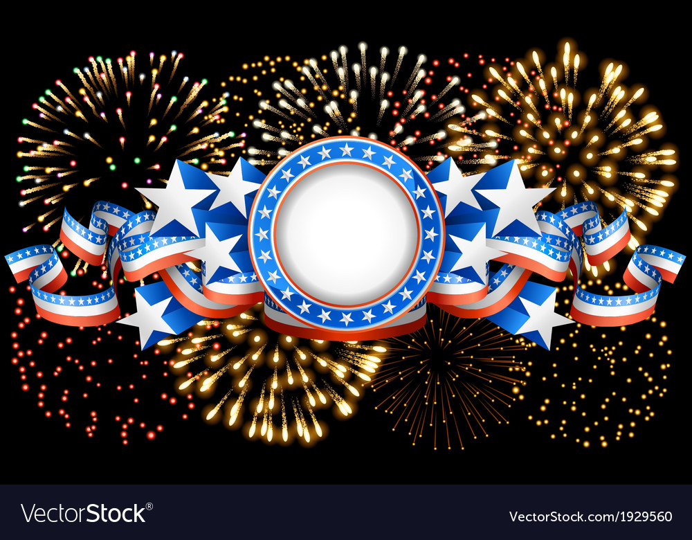 American background with fireworks