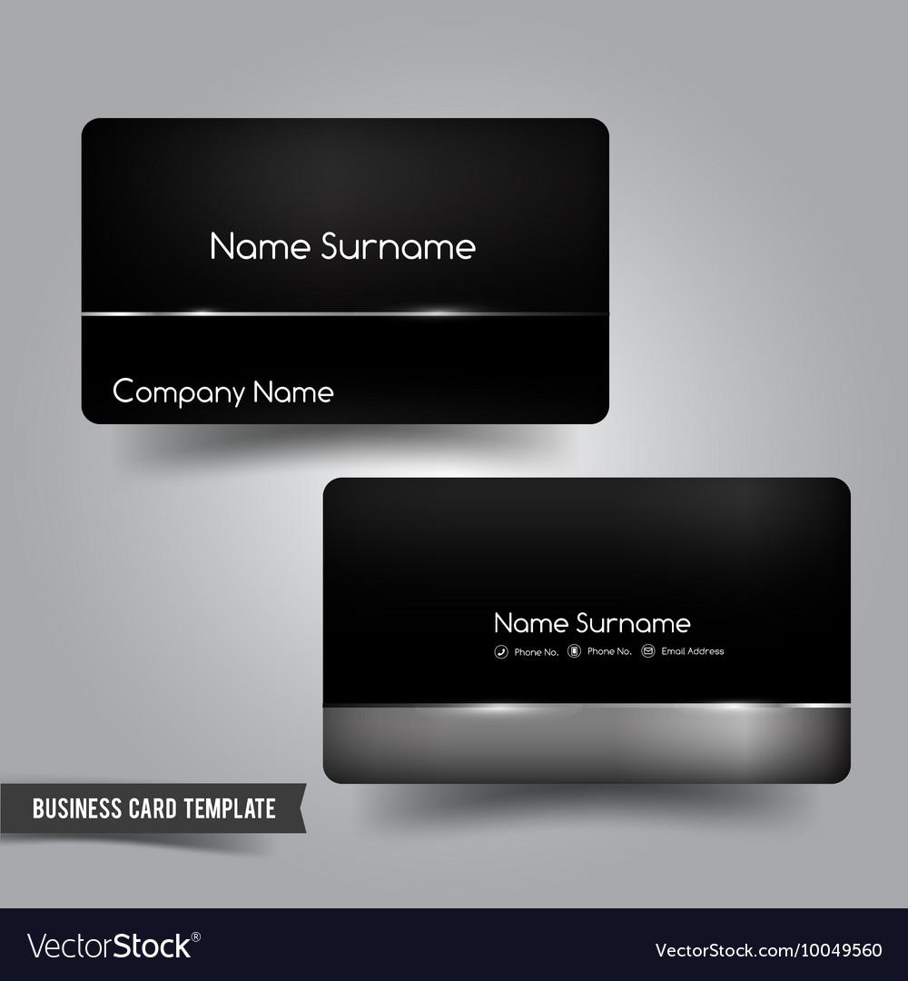 Business Card template set 55 Dark metal and steel