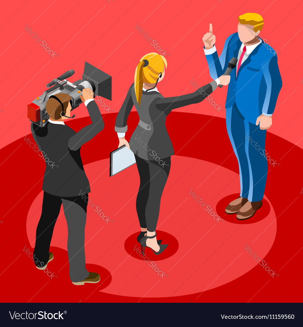 Election News Infographic Latest News Isometric vector image