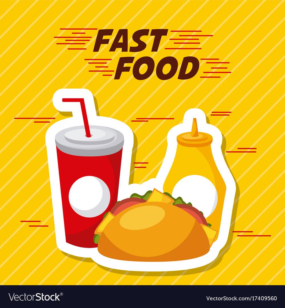 Fast food restaurant menu brochure