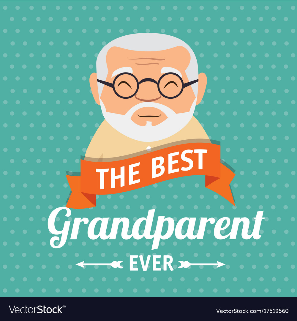 Grandparents day greeting card royalty free vector image grandparents day greeting card vector image m4hsunfo