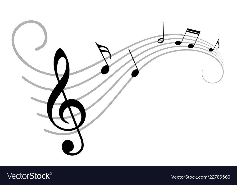 music notes royalty free vector image vectorstock