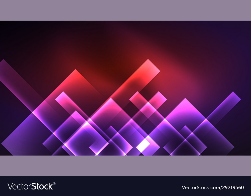 Neon shiny color squares on black modern template