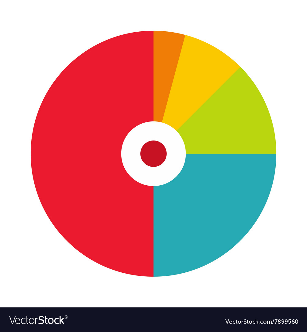 Pie chart with a hole in the center icon