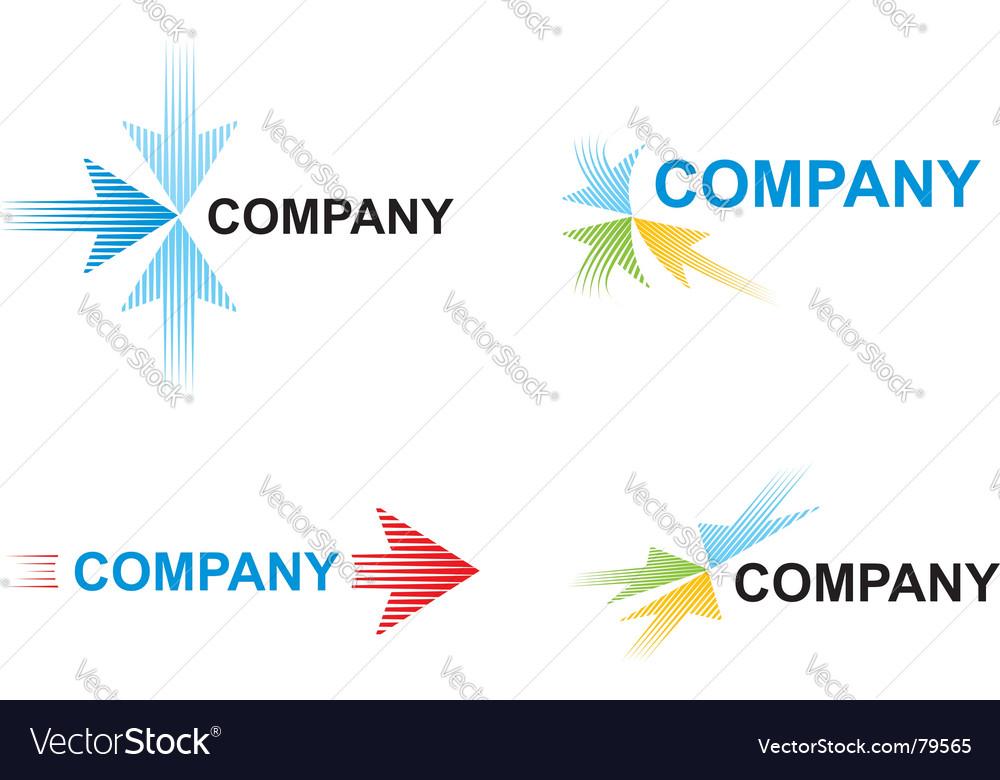 Arrow logos vector image