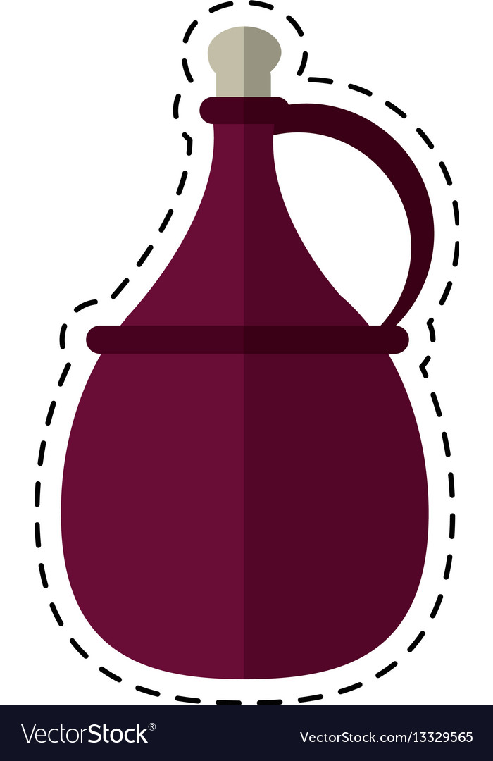 Cartoon wine carafe cork icon vector image