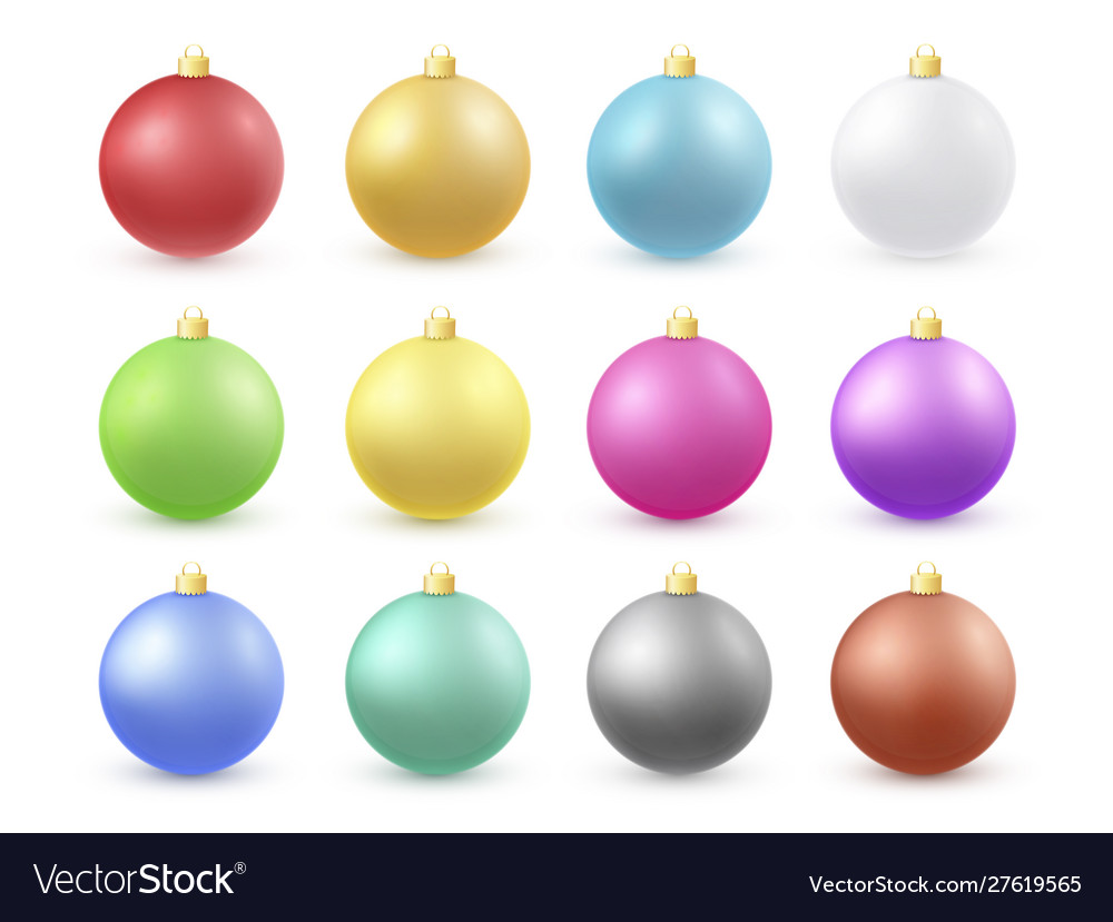 Christmas balls 3d color set