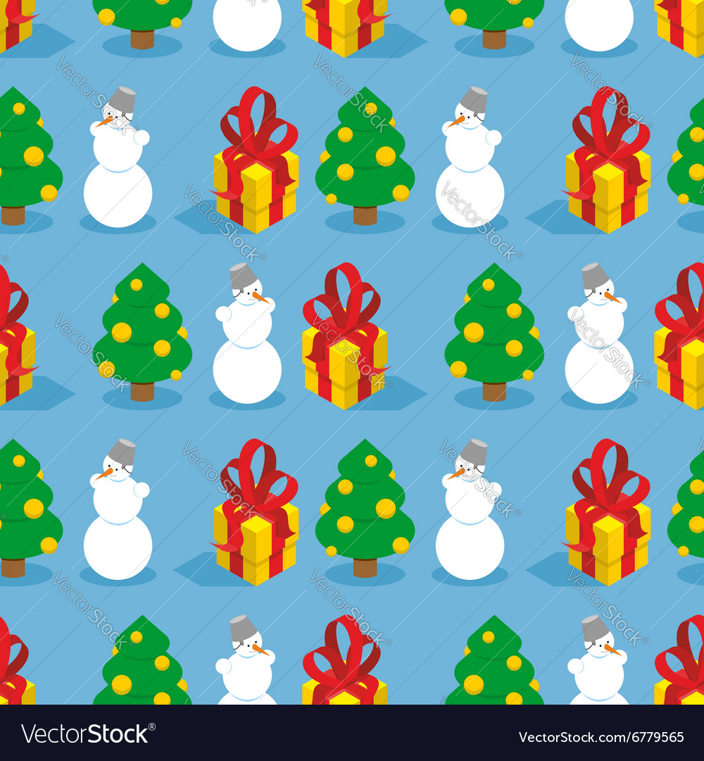 Christmas seamless pattern Symbols of winter