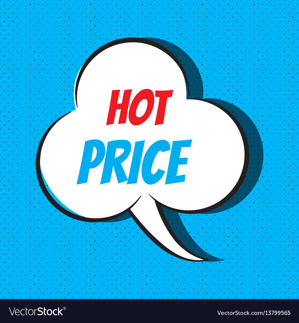Comic speech bubble with phrase hot price
