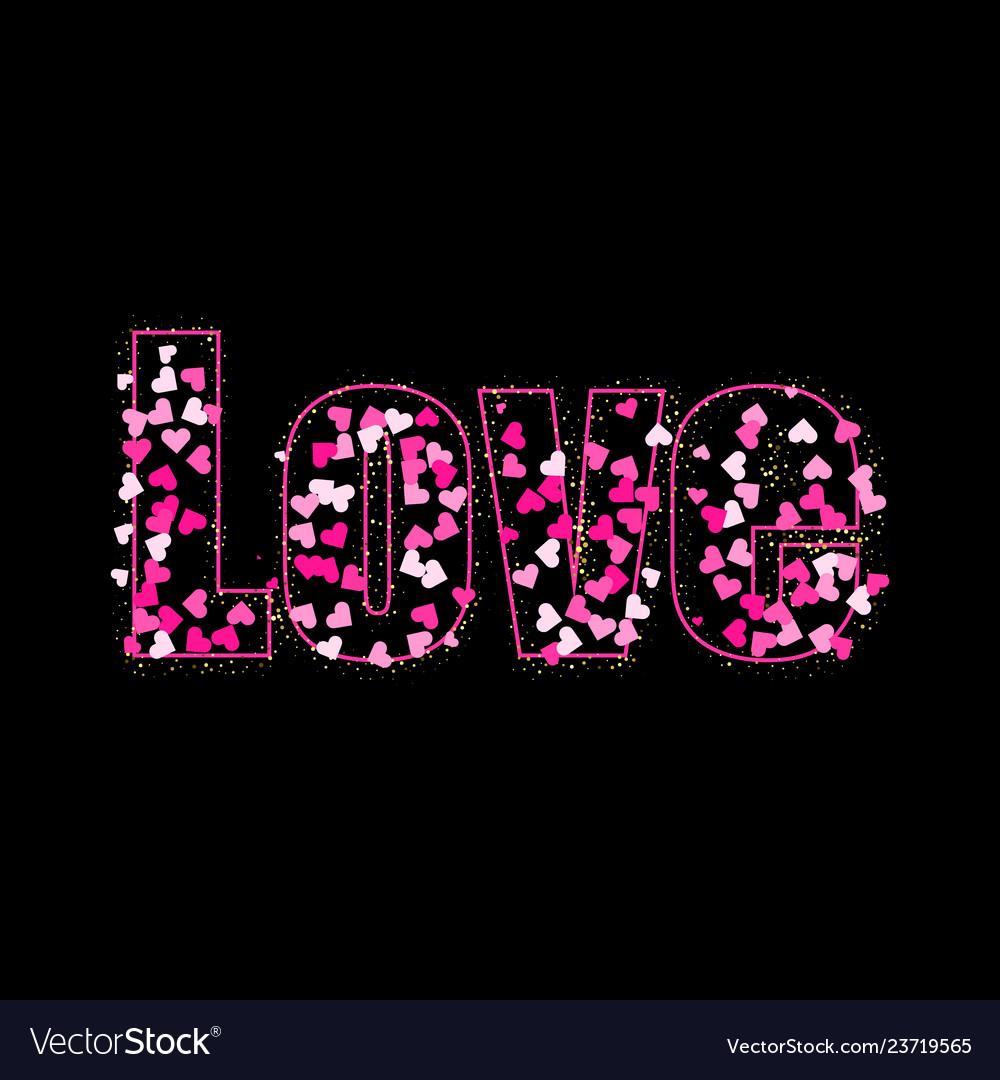 Conceptual handwritten phrase love with heart