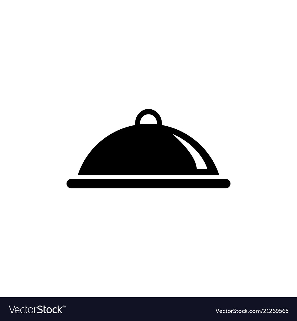 Covered food meal tray flat icon