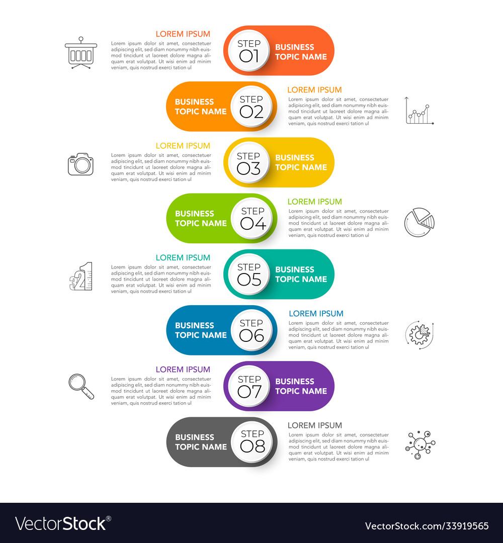 Infographic timeline design template