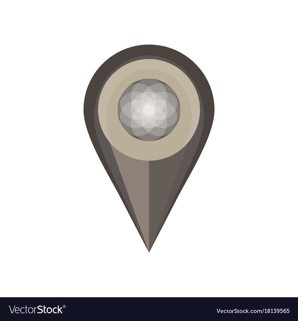 Pin map icon isolated white symbol push location