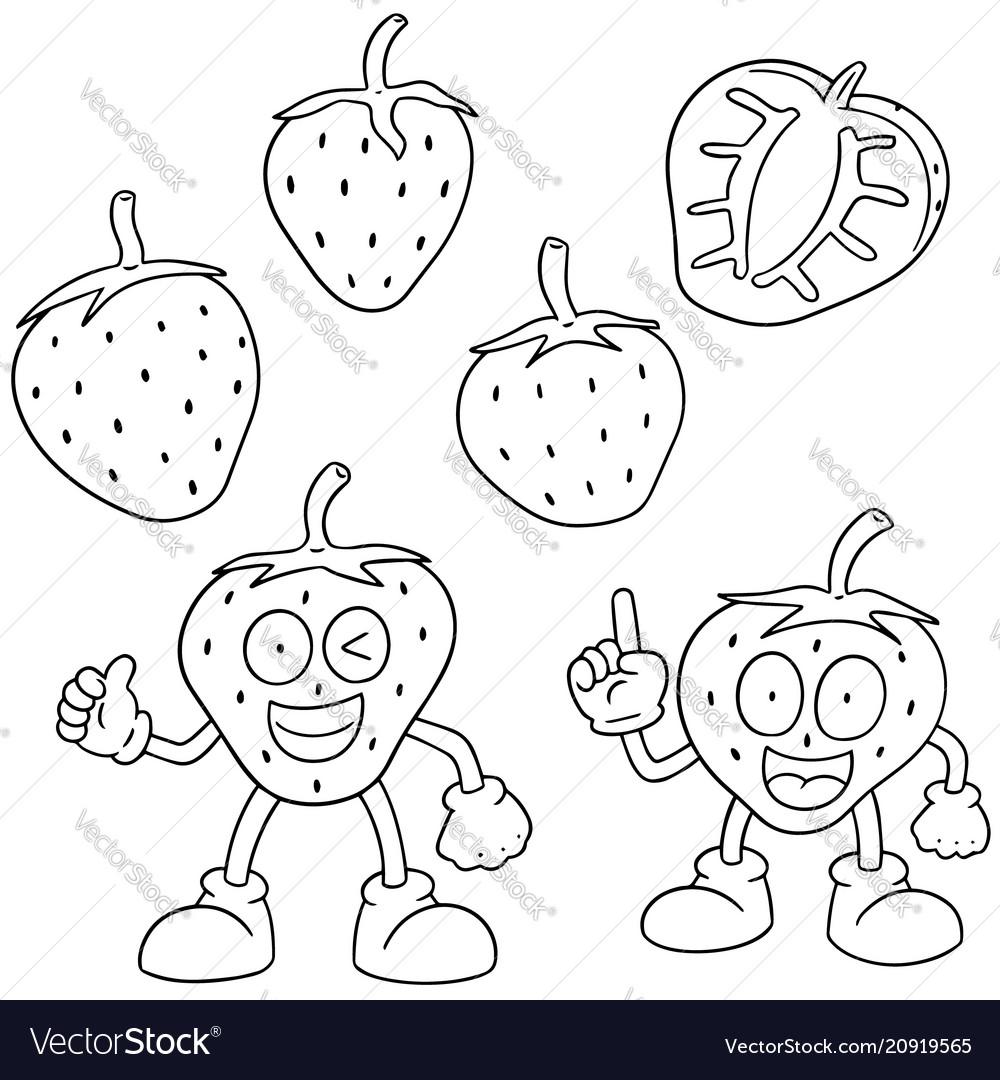 Set of strawberry