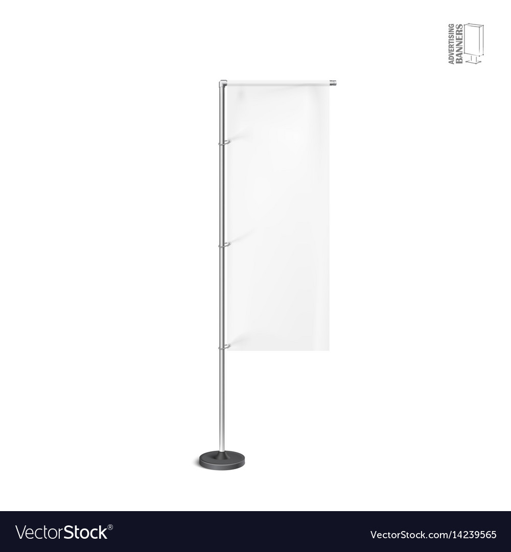 White outdoor feather flag stander advertising vector image