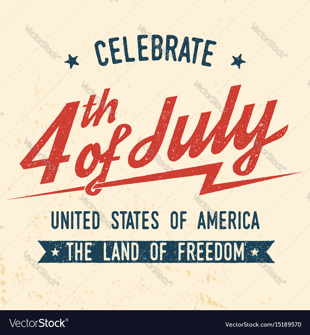 d6c8d9b65a0e55 4th of july design in retro style Royalty Free Vector Image