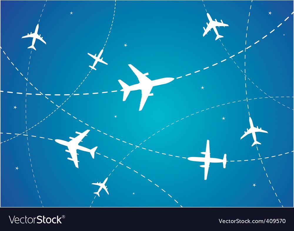 Airplane routes