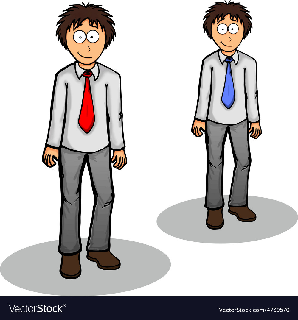 Boy standing cute drawing expression friendly vector image