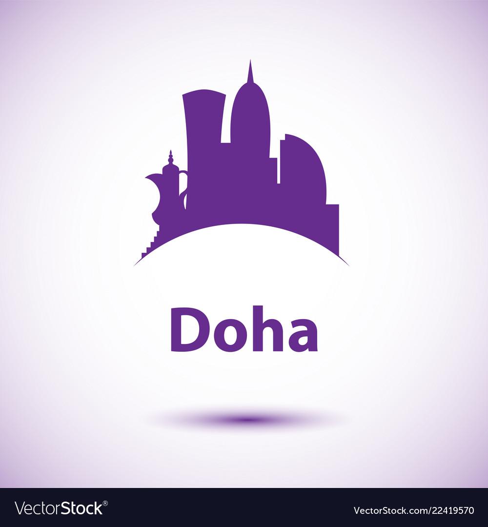 Doha corniche - the symbol of qatar city