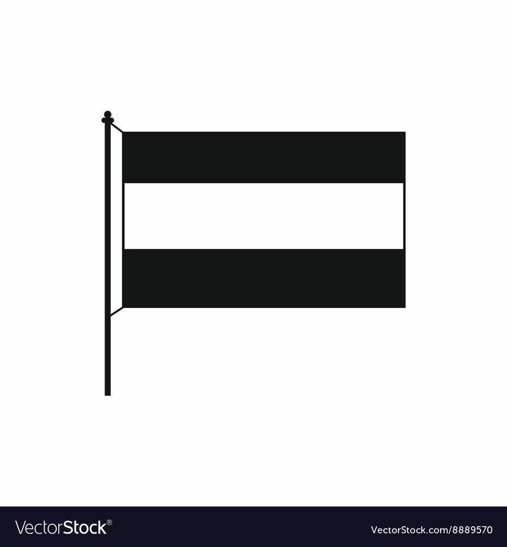 Flag icon in simple style