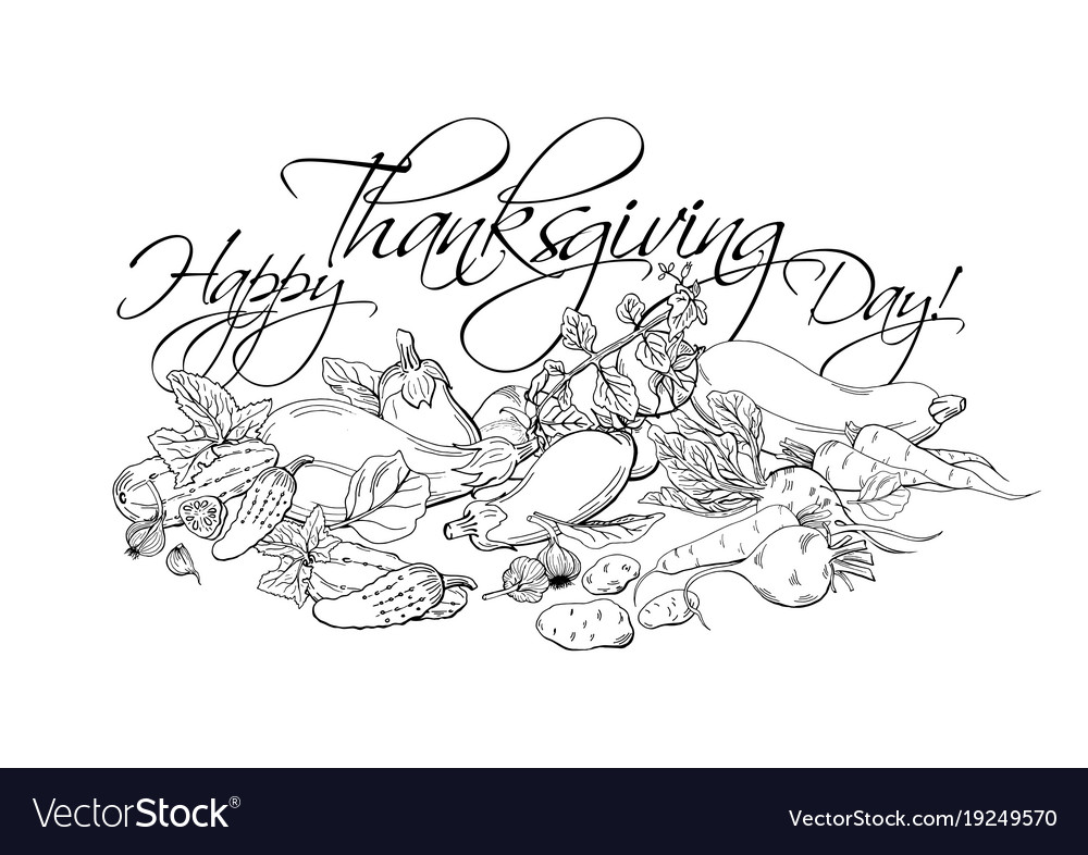 Happy thanksgiving day horizontal poster with
