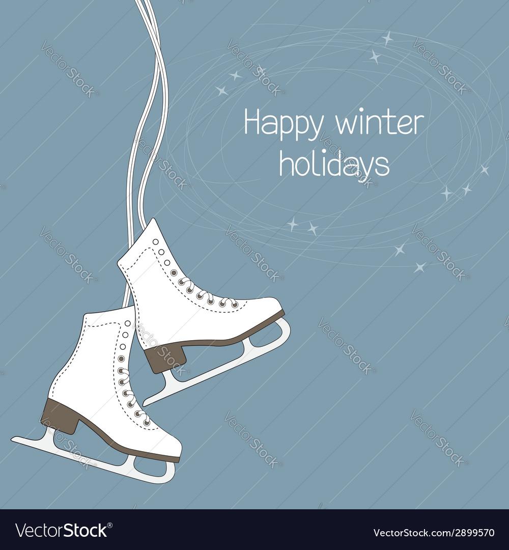ice skates royalty free vector image vectorstock vectorstock