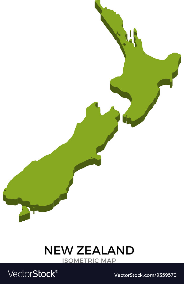 Detailed Map Of New Zealand.Isometric Map Of New Zealand Detailed