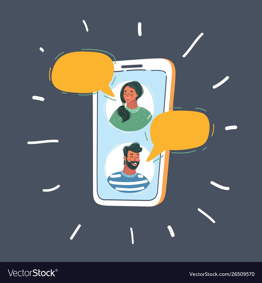 Social media messenger networking conceptual