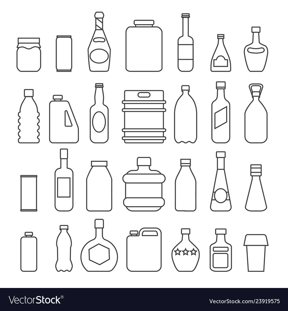 Beverage packaging icons