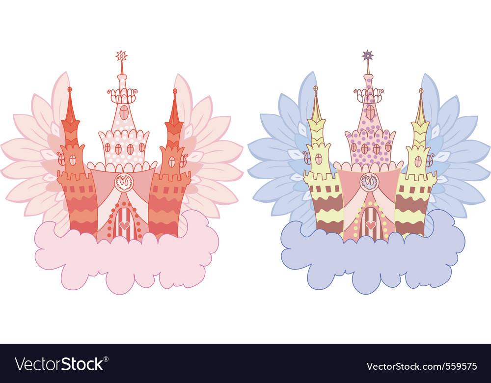 Cartoon fairy castle set