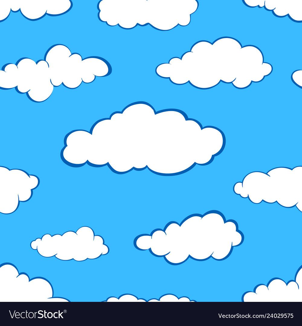 Clouds seamless pattern set