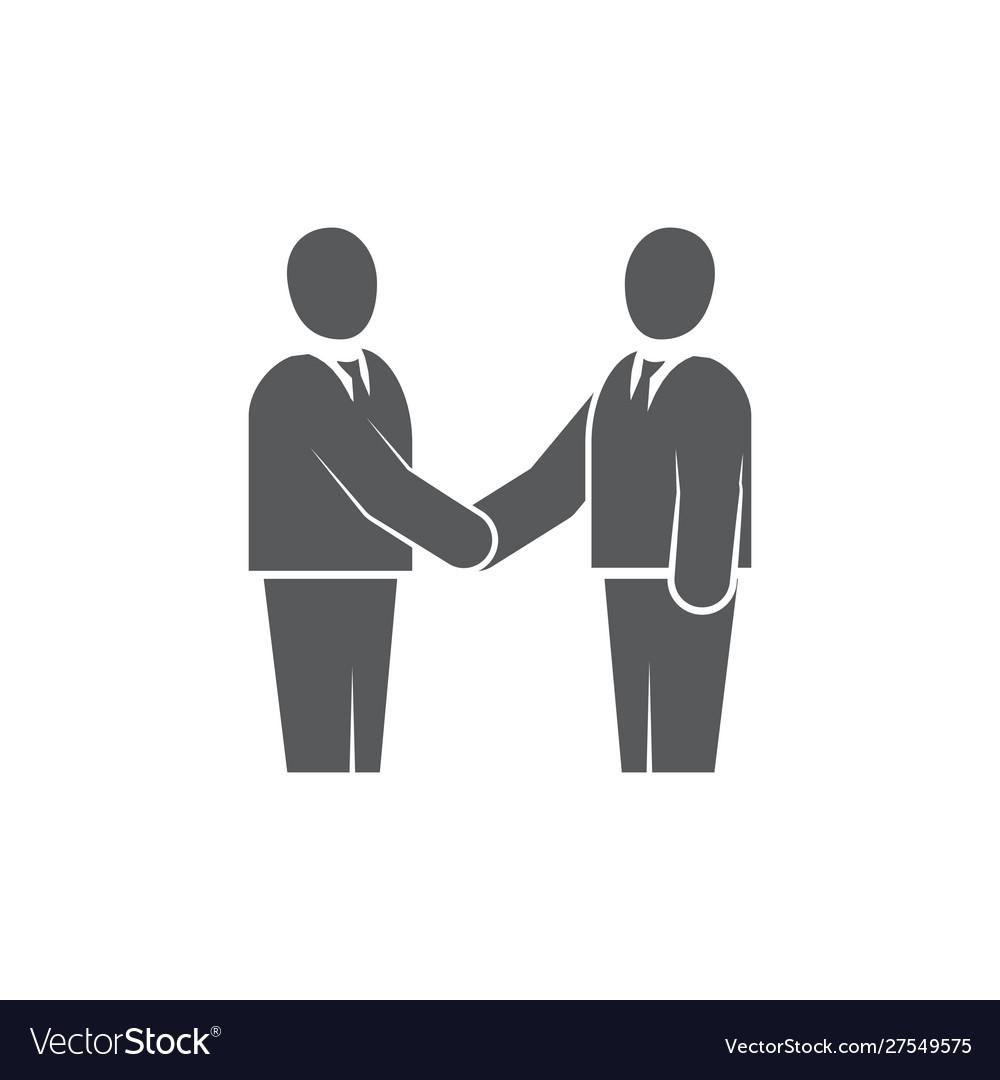 Handshake icon on white background