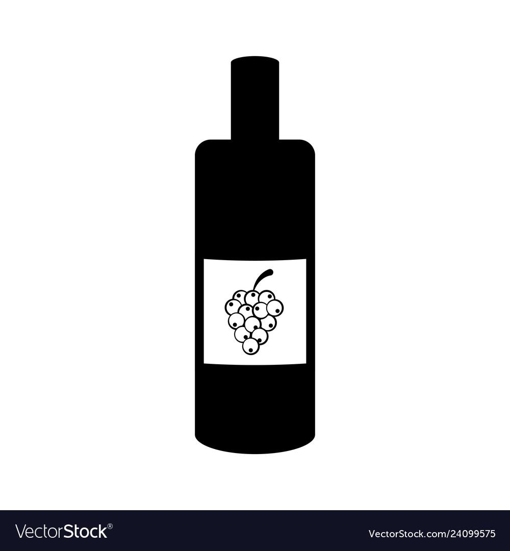 Isolated wine bottle icon