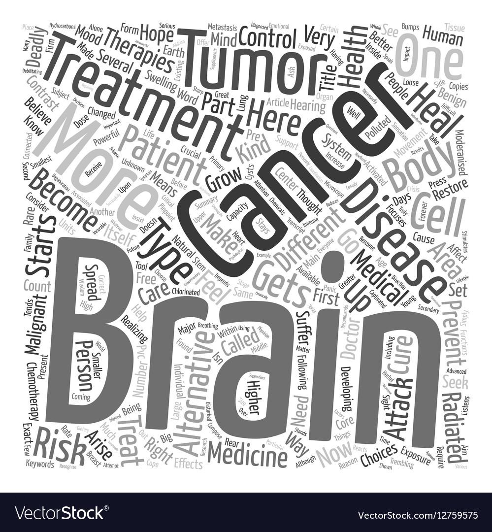 Prevent brain cancer alternative treatment text