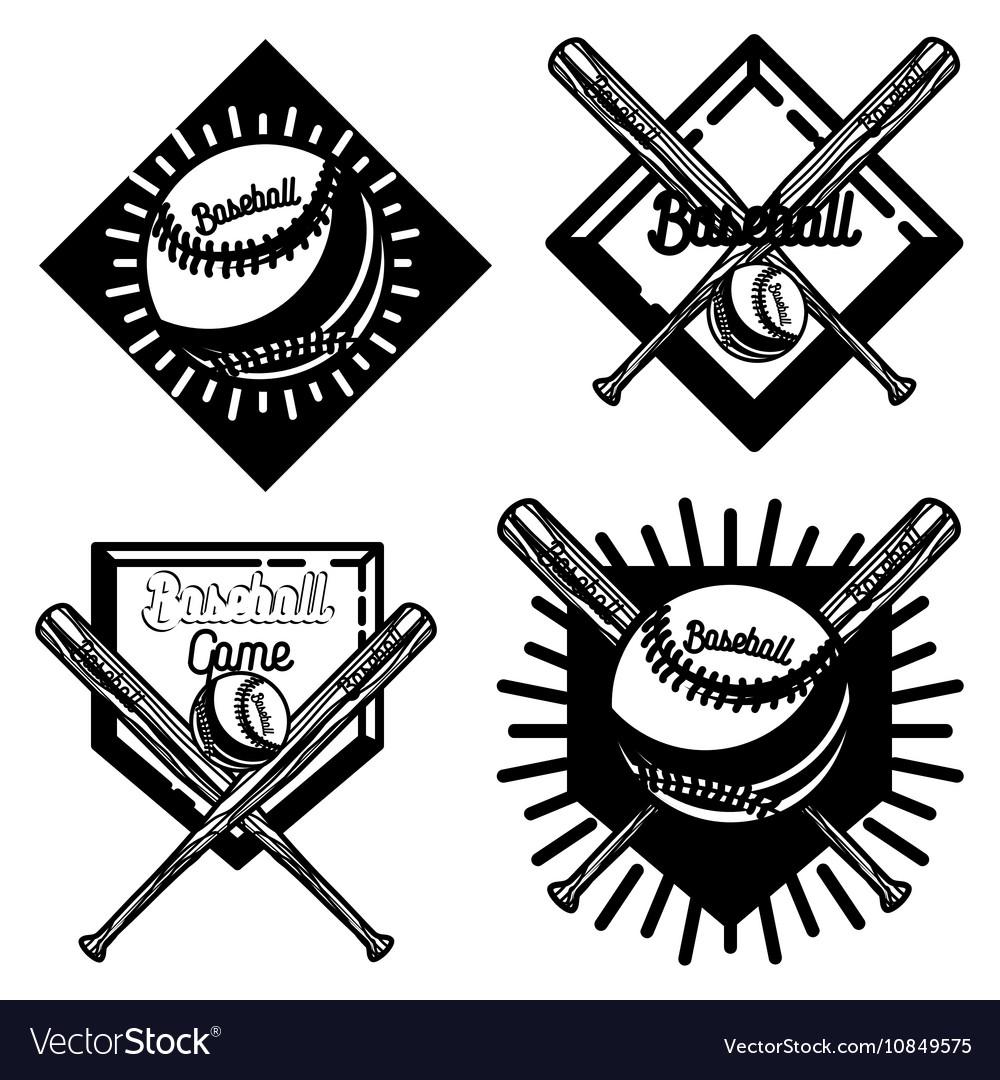 Vintage baseball emblem vector image