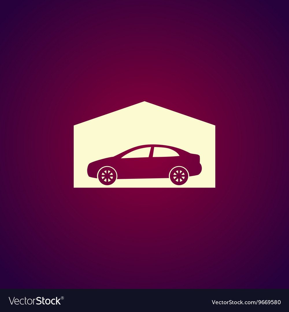 Car garage Flat design style