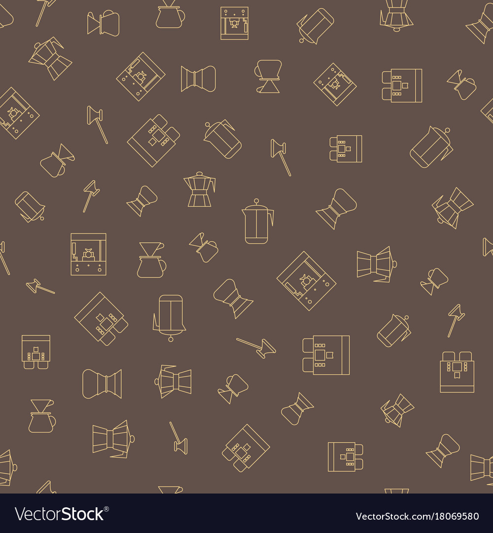 Coffee brown seamless pattern