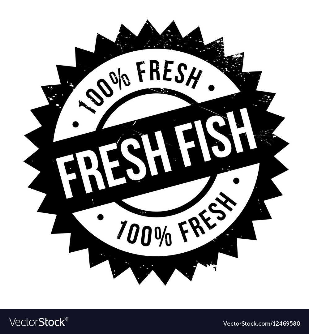 Fresh fish stamp