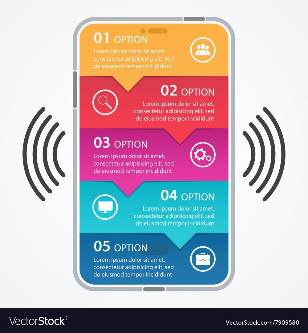 Mobile business infographics