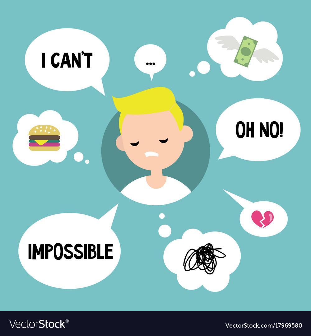 Modern communication concept unhappy blond boy