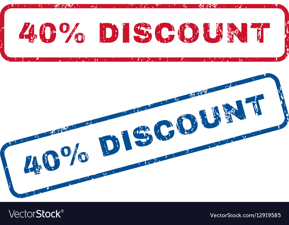 40 Percent Discount Rubber Stamps