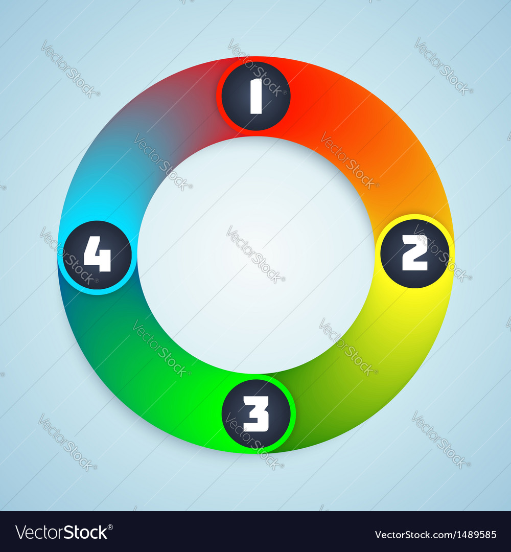 Colorful Shiny Infographic Elements vector image