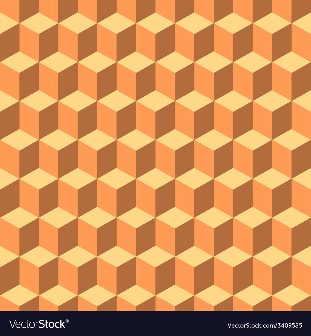 Cute cube seamless background