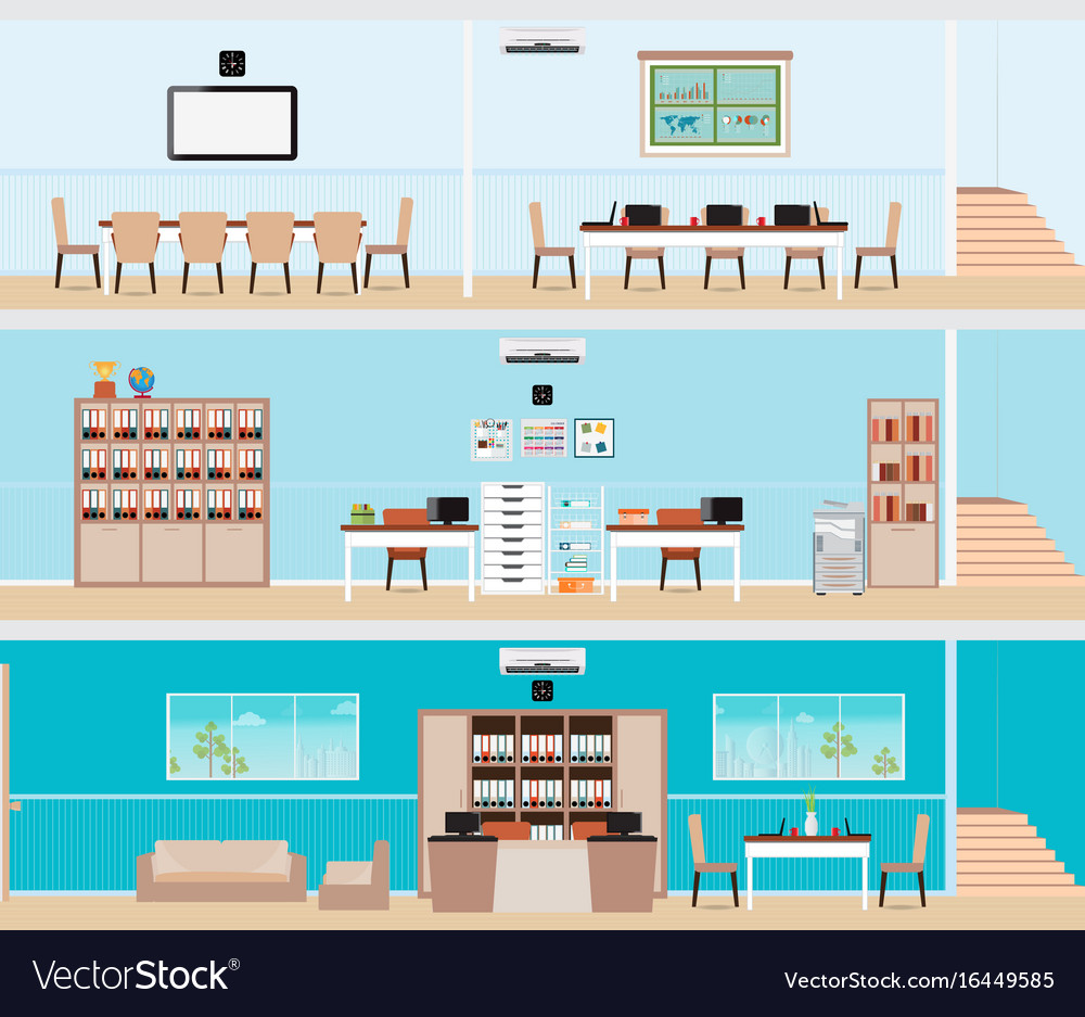 Interior of the building vector image