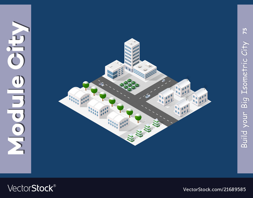 Isometric module is area landscape